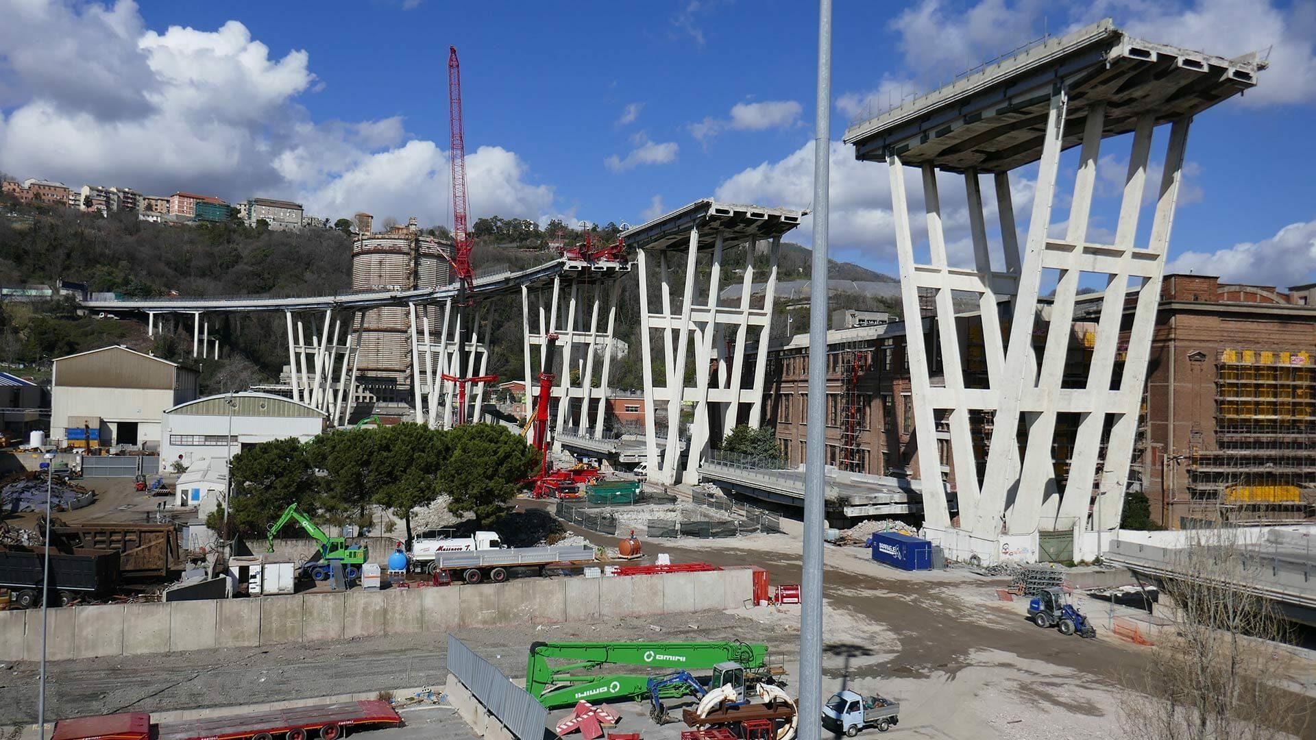 demolizioni speciali ponte morandi